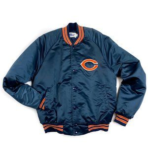 Chicago Bears Satin Starter Jacket Chalk Line M